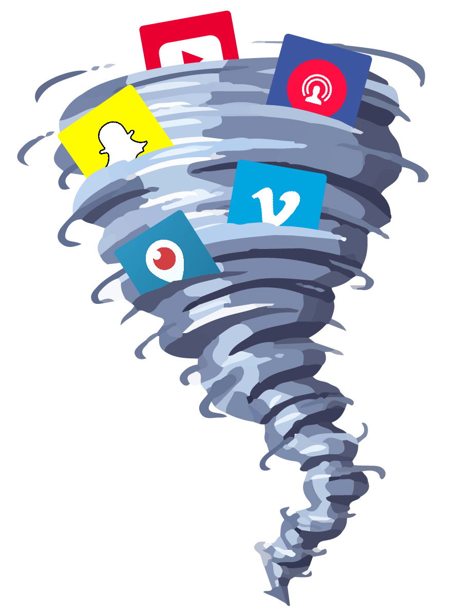 Social media whirlwind