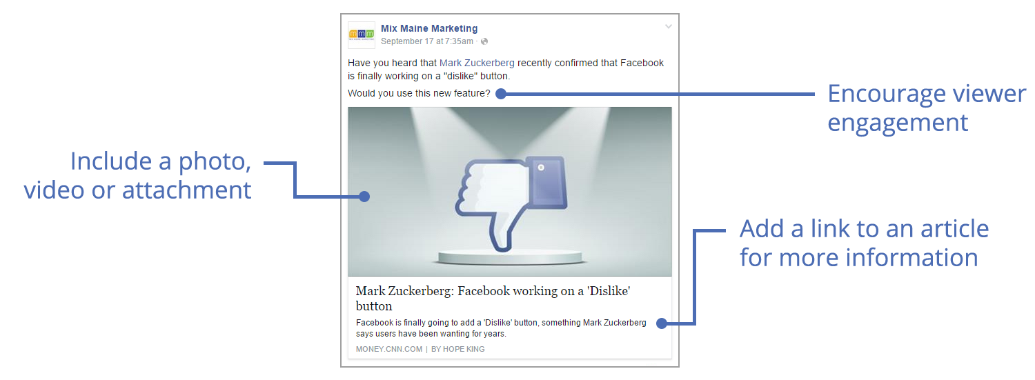 Maximize engagement on your Facebook posts